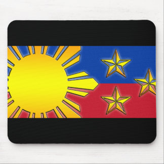 Sun and 3 Stars Mouse Pad