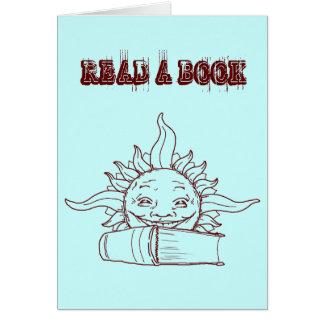 Sun and a book card