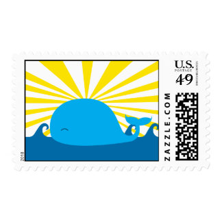 Sun and a Whale Postage
