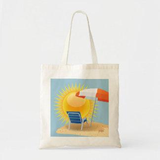 Sun and Beach Umbrella Tote Bag