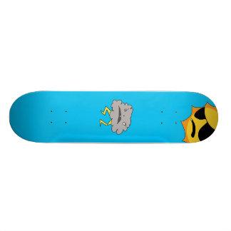 Sun and Cloud Deck Skate Board Deck