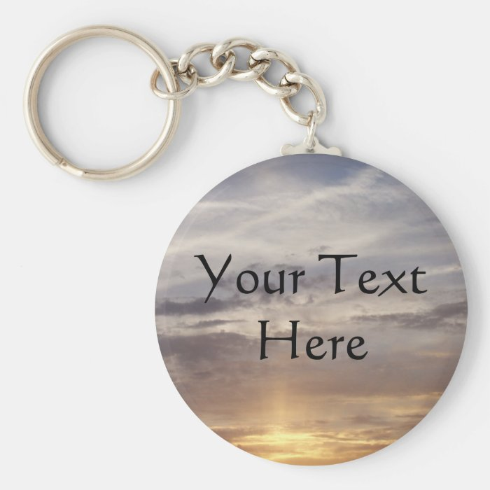Sun and Clouds Keychain