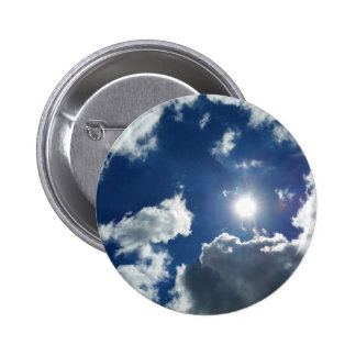 sun and clouds pinback button