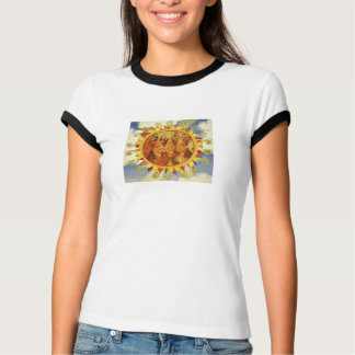 Sun and Clouds vintage print T-Shirt