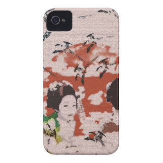 Sun and dance 妓 with bird 2 iPhone 4 Case-Mate case