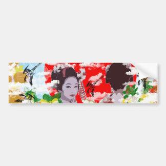 Sun and dance 妓 with bird bumper sticker