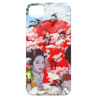 Sun and dance 妓 with bird iPhone 5 cover