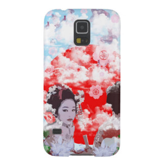 Sun and dance 妓 with cherry tree galaxy s5 cover