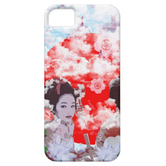 Sun and dance 妓 with cherry tree iPhone 5 cover
