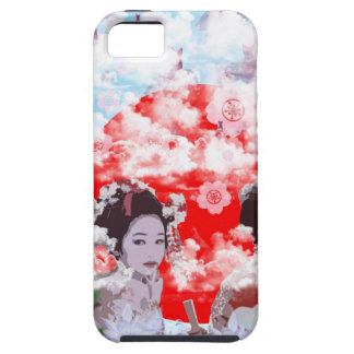 Sun and dance 妓 with cherry tree iPhone SE/5/5s case