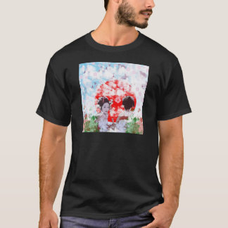 Sun and dance 妓 with cherry tree T-Shirt