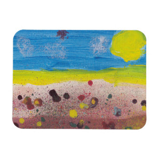Sun and Flowers Magnet by Nate