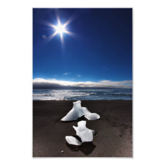 Sun and ice at Jokulsarlon Photo