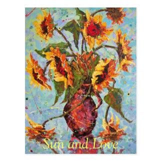 Sun and Love Postcard