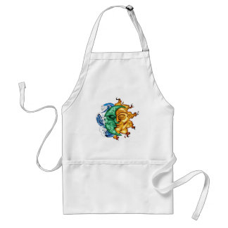 SUN AND MOON ABSTRACT FUSION ADULT APRON