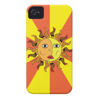 Sun and Moon Abstract iPhone 4 Case