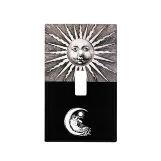 Sun and Moon Antique Art Lightswitch Switch Plate Covers