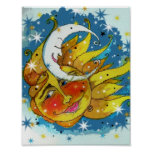 Sun and  Moon Art Print and Poster