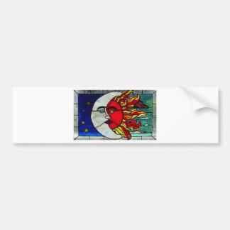 Sun and Moon Bumper Sticker