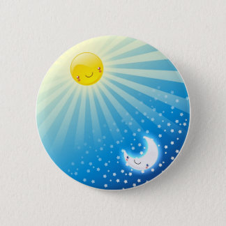 Sun and Moon Buttom Pinback Button