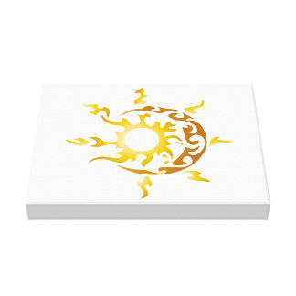 sun and moon stretched canvas print