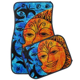 Sun and Moon Car Mats