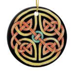 Sun and Moon Ceramic Ornament