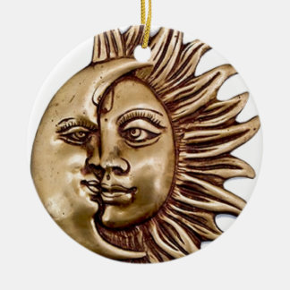 SUN AND MOON CHARM DESIGN CERAMIC ORNAMENT