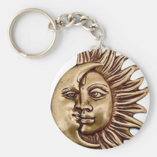 SUN AND MOON CHARM DESIGN KEYCHAIN