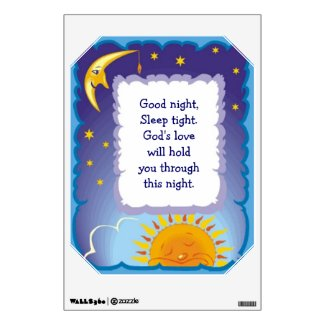 Sun and Moon Child Night Wall Decal
