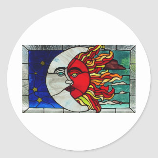 Sun and Moon Classic Round Sticker