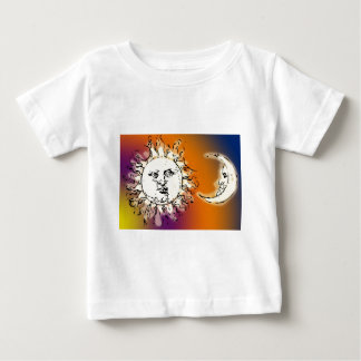Sun and Moon Colorful Baby T-Shirt