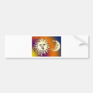 Sun and Moon Colorful Bumper Sticker