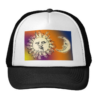 Sun and Moon Colorful Trucker Hat