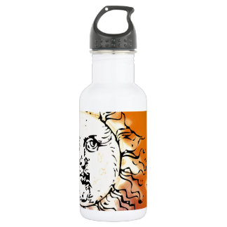 Sun and Moon Colorful Water Bottle