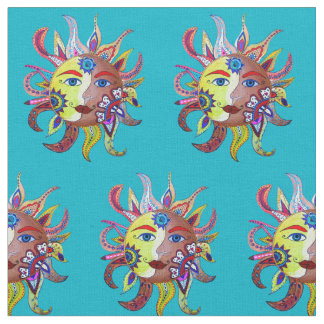 Day of the dead fabric zazzle for Sun and moon material