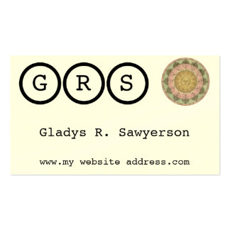 Sun and Moon Customizable Monogram Double-Sided Standard Business Cards (Pack Of 100)