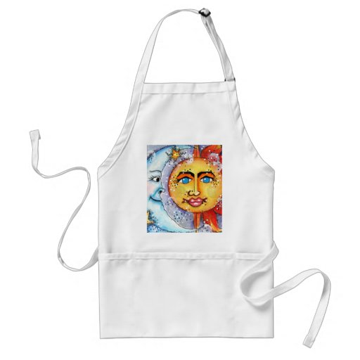Sun and Moon Design Adult Apron