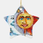 Sun and Moon Design Christmas Tree Ornament