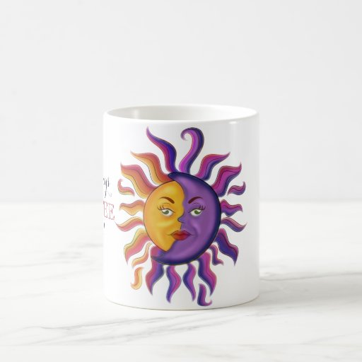 Sun and moon design coffee mug
