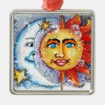 Sun and Moon Design Ornaments