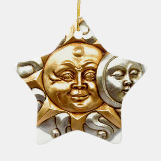 SUN AND MOON FUSION METALLIC DESIGN CERAMIC ORNAMENT