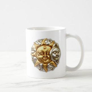 SUN AND MOON FUSION METALLIC DESIGN COFFEE MUG