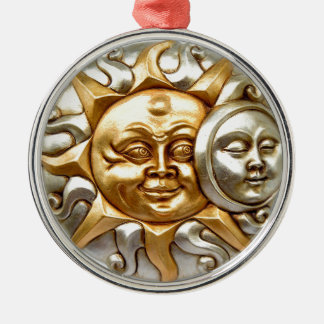 SUN AND MOON FUSION METALLIC DESIGN METAL ORNAMENT