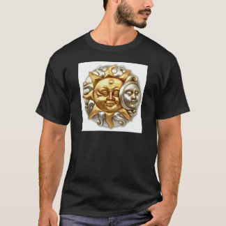 SUN AND MOON FUSION METALLIC DESIGN T-Shirt