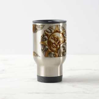 SUN AND MOON FUSION METALLIC DESIGN TRAVEL MUG