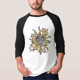 Sun and Moon Girl Black Sleeves T-Shirt