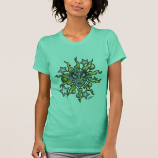 Sun and Moon Girl Women's T Lime T-Shirt