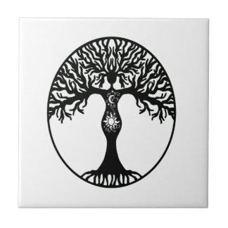 Sun and Moon Goddess Tree Tile