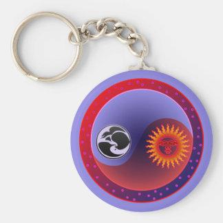 Sun and Moon in Balance Keychain